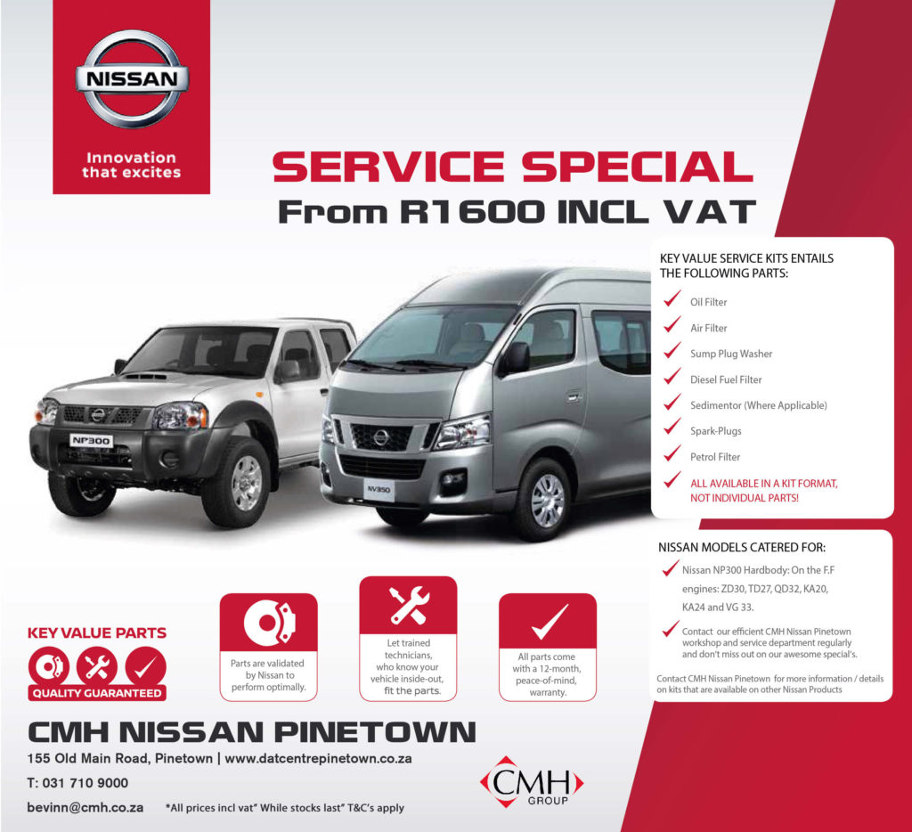 CMH Nissan Pinetown Service Special