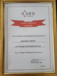 CMH Nissan Long Service Award