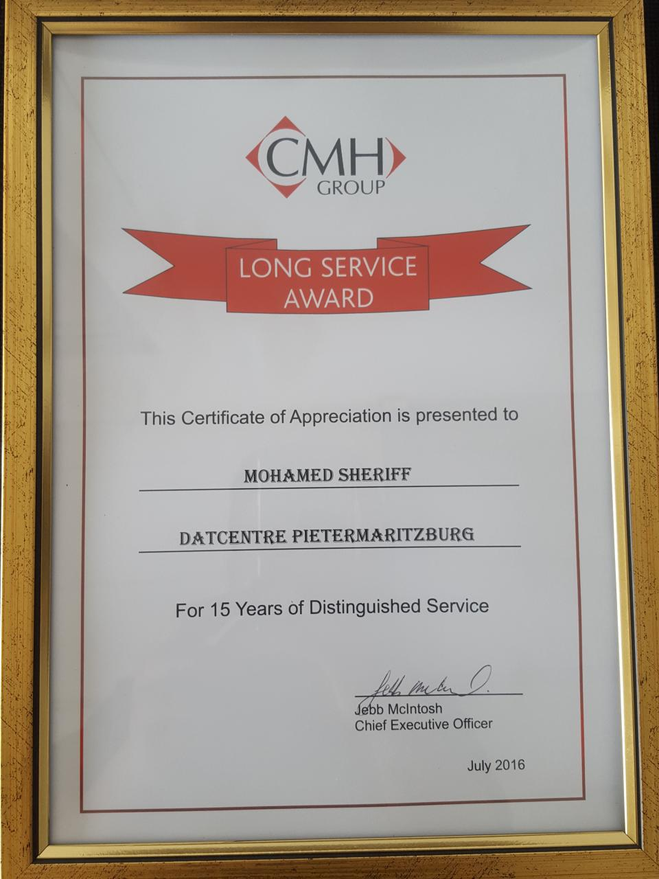 15 years service award to mr mohamed shiraz cmh nissan cmh nissan long service award yadclub Gallery