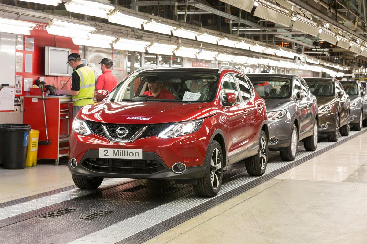 Two millionth Nissan Qashqai rolls off the production line