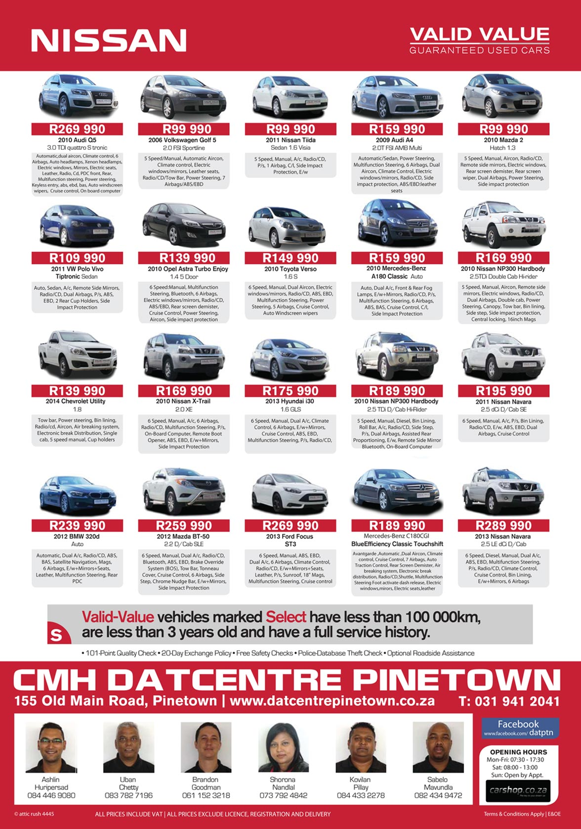 CMH Nissan Pinetown July Specials