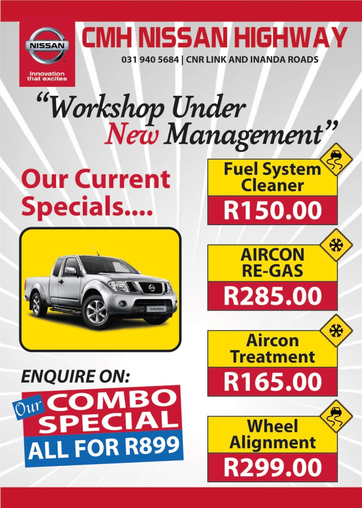 CMH Nissan Highway Workshop Specials