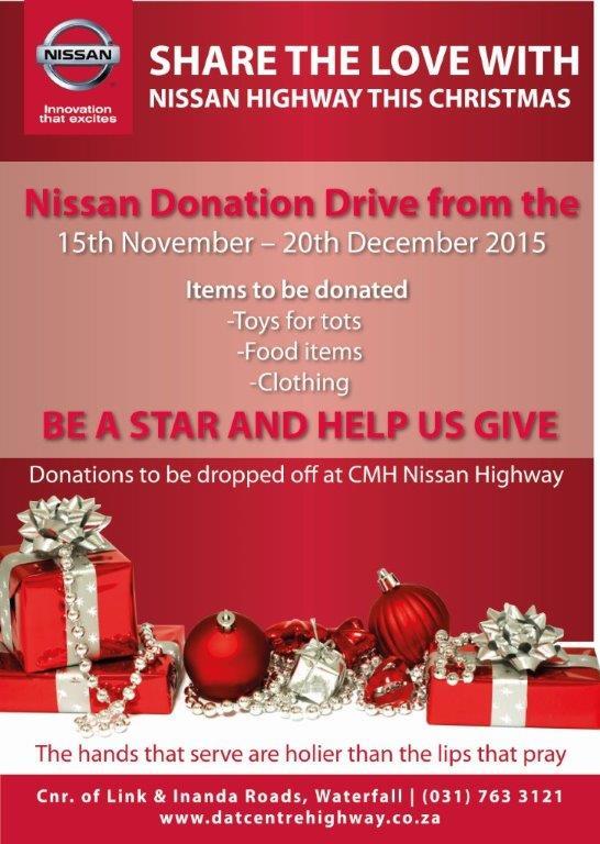 Nissan Highway Chirstmas donation
