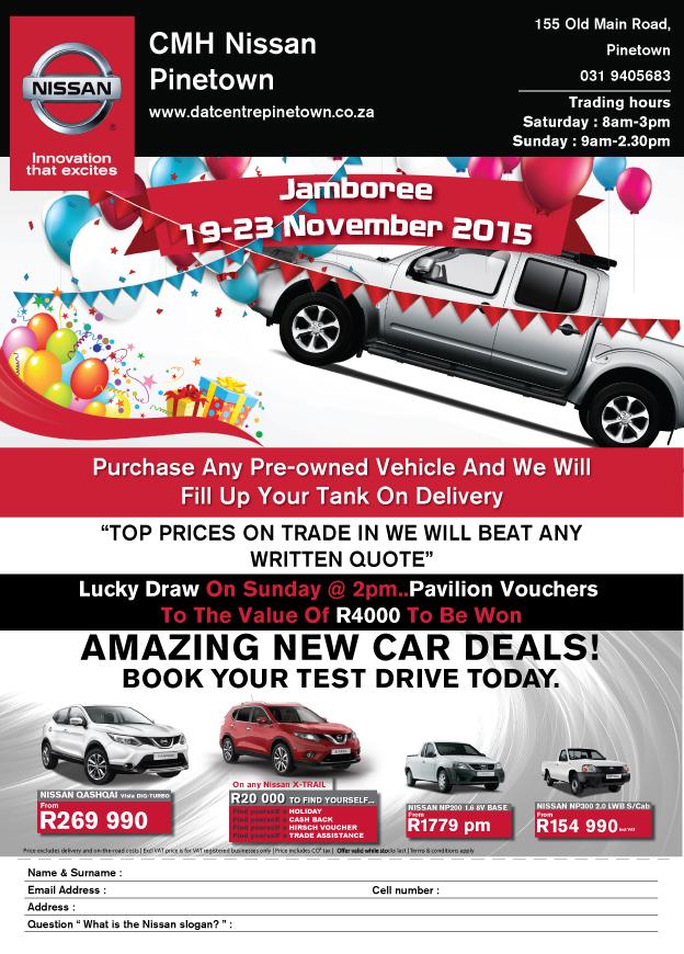 CMH Nissan Pinetwon Jamboree