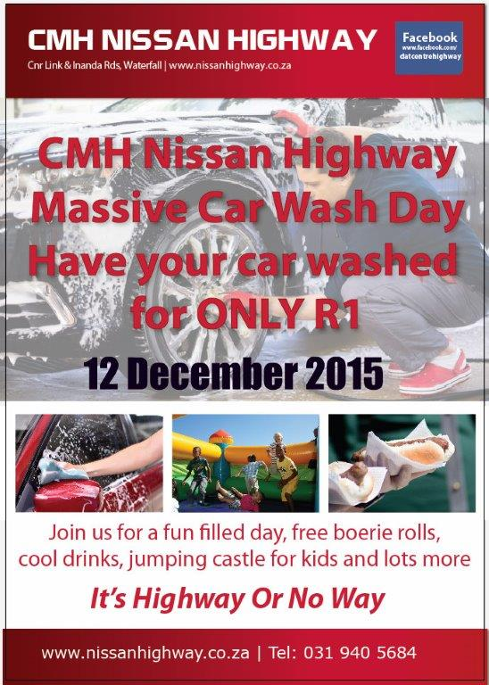 CMH Nissan Highway R1 Carwash Family Day
