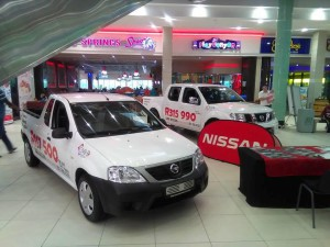 CMH Nissan Highway Watercrest Mall Display