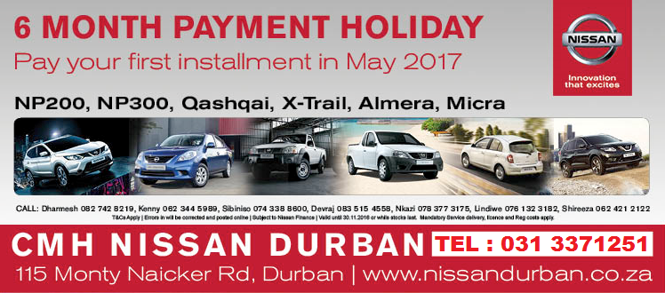CMH Nissan Durban Payment Holiday