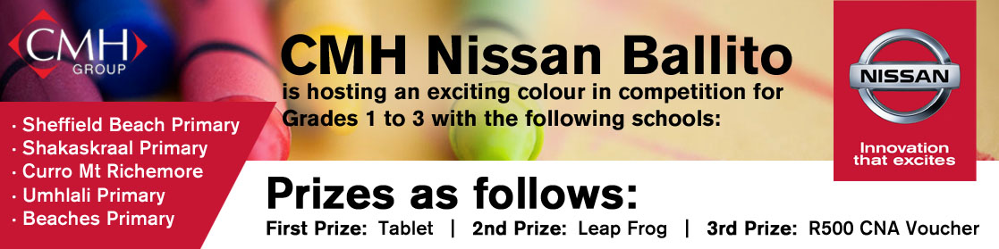 CMH Nissan Ballito- Colouring competition