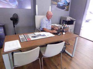 Paul Steffens working