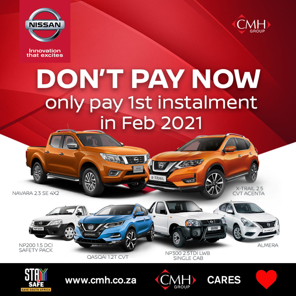 CMH Nissan Pinetown - Payment Holiday - No Pandemic